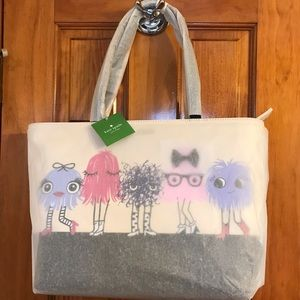 NWT KATE SPADE IMAGINATION MONSTER PARTY TOTE Bag